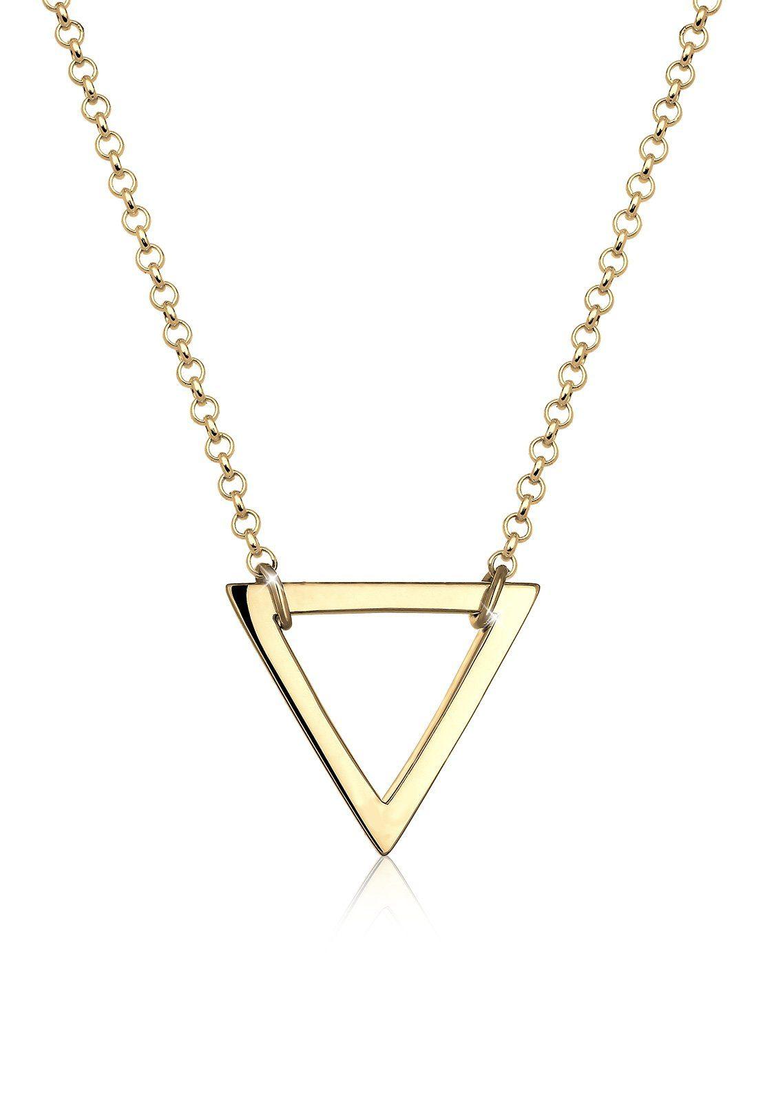 Elli Halskette »Dreieck Geo 925 Silber vergoldet«