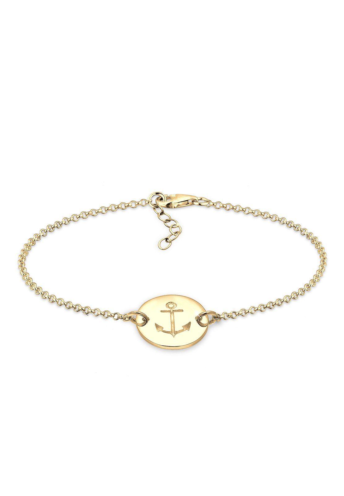 Elli Armband »Anker vergoldet«
