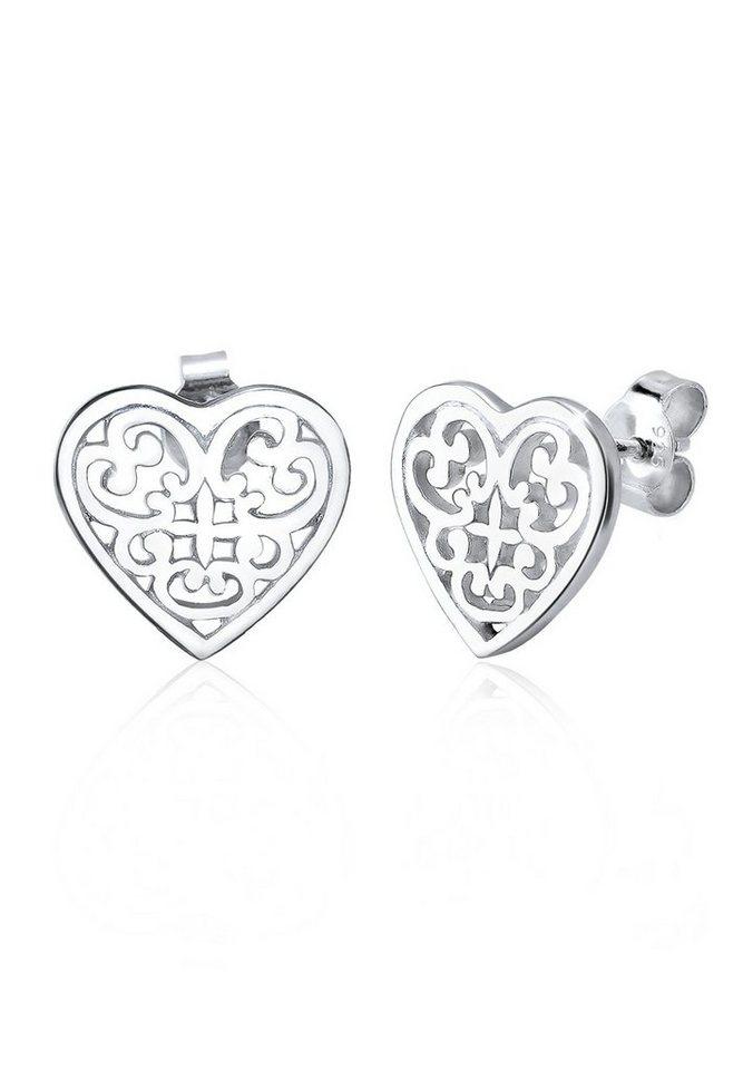 Elli Ohrringe »Ornament Herz Silber« in Silber