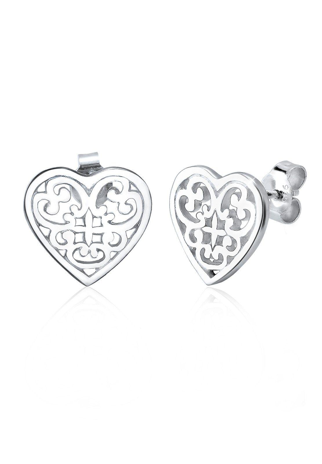 Elli Ohrringe »Ornament Herz Silber«