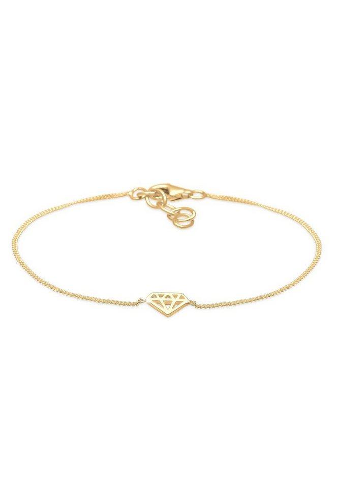 Elli Armband »Diamant vergoldet« in Gold