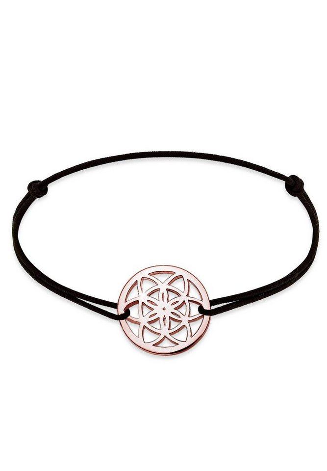 Elli Armband »Ornament ROSÉGOLD« in Schwarz
