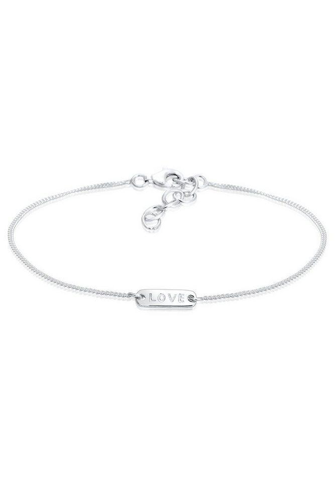Elli Armband »Love-Schriftzug Silber« in Silber