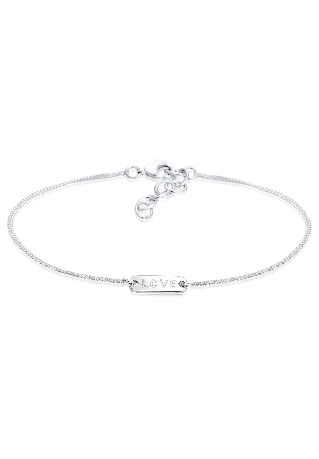 Elli Armband »Love-Schriftzug Silber«