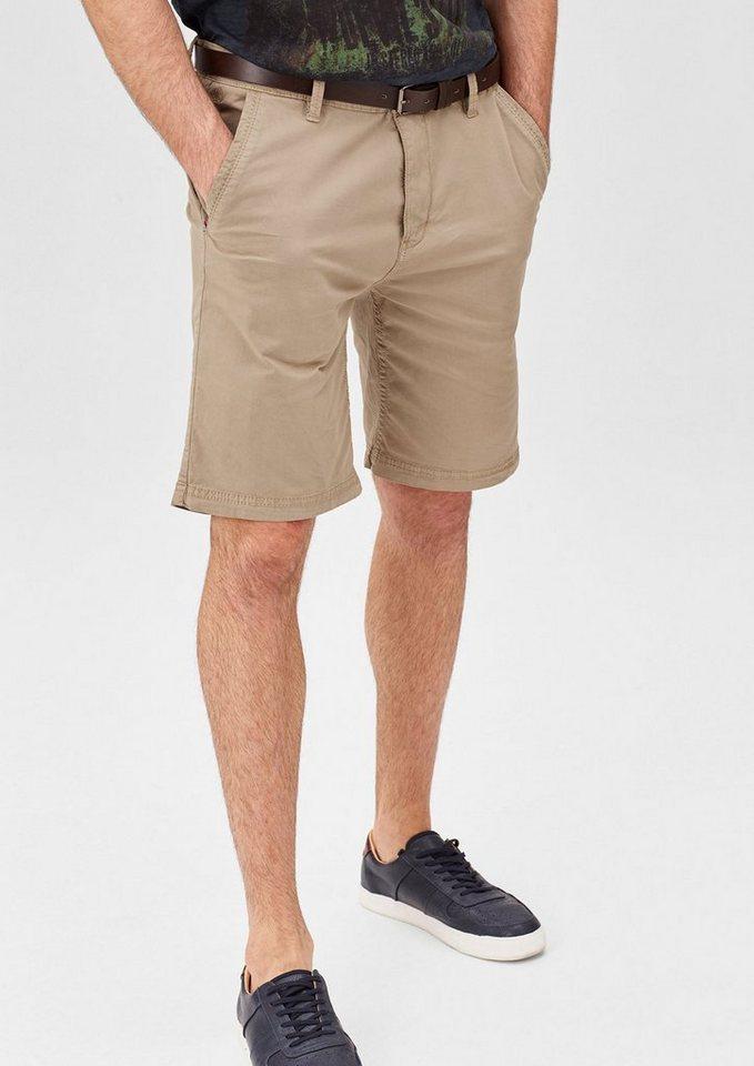 s.Oliver RED LABEL Plek Loose: Shorts mit Gürtel in done