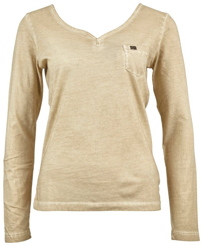 Napapijri Langarmshirt »SHIFT« in Beige
