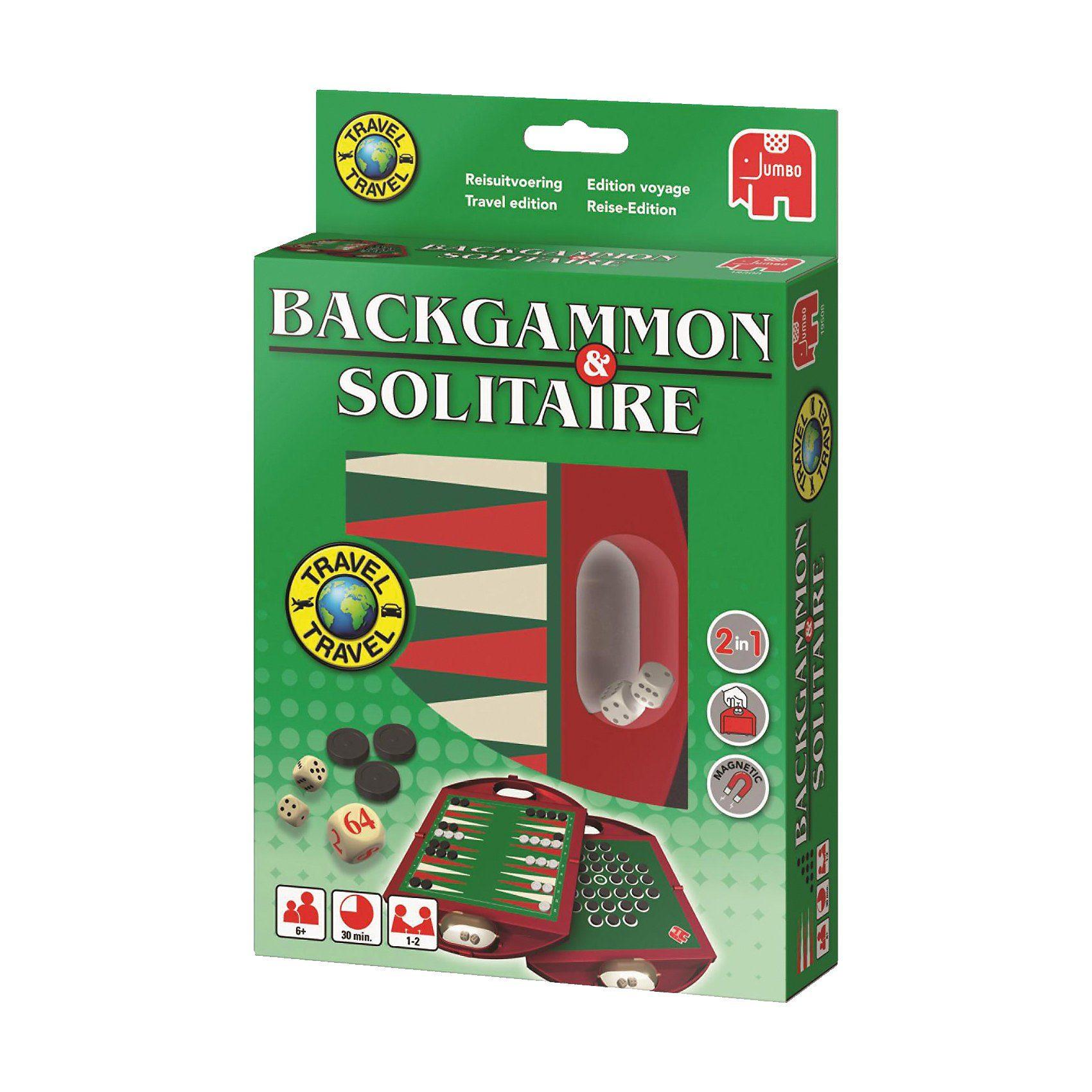 Jumbo Travel Backgammon & Solitaire