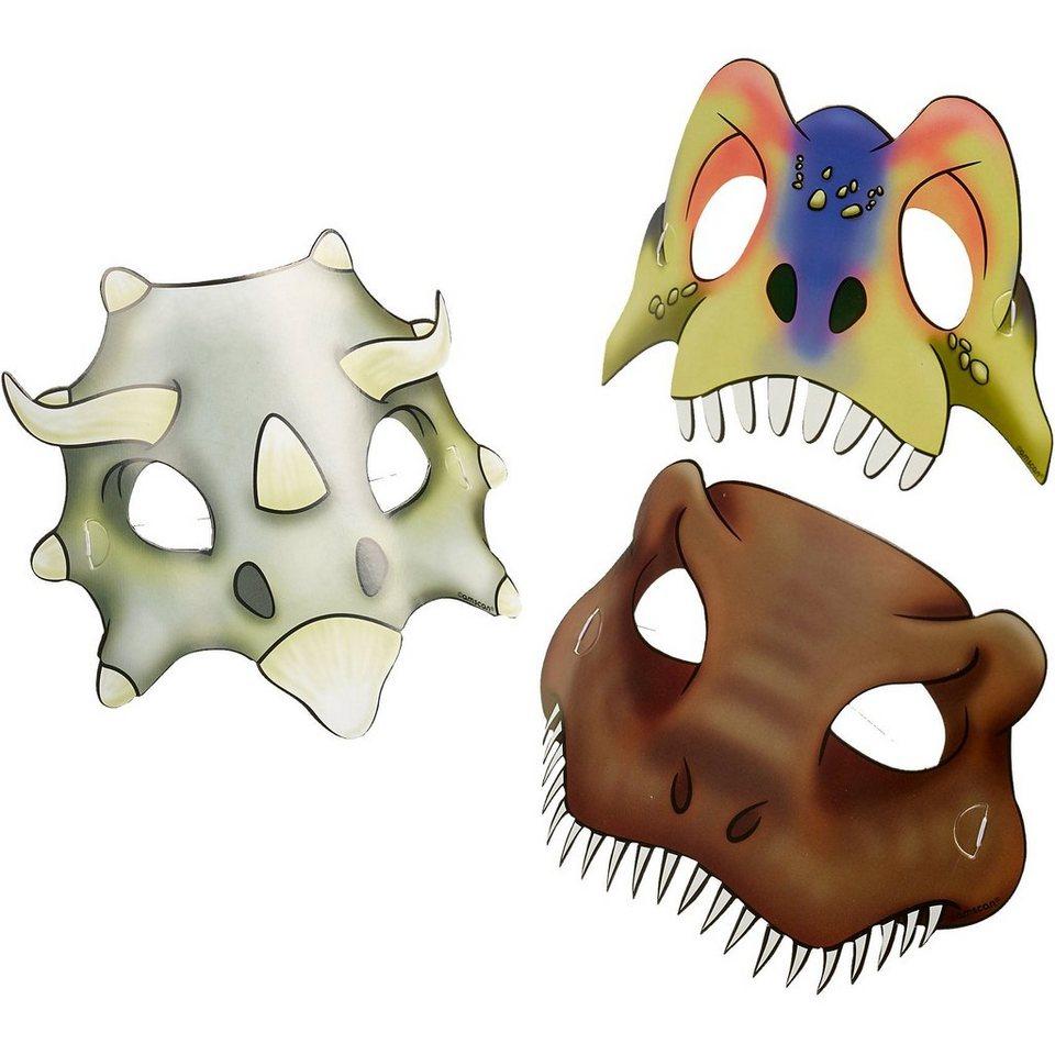 Amscan Masken Dinosaur Attack, 8 Stück