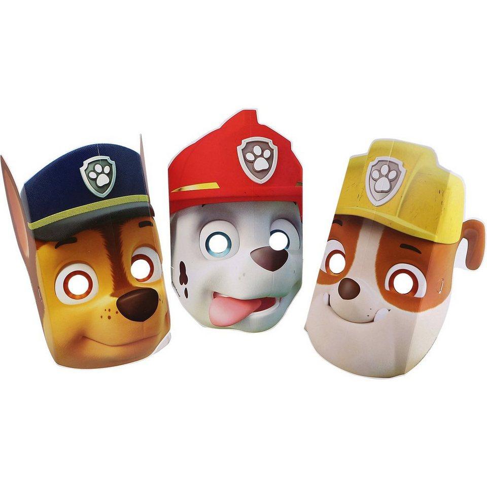 Amscan Masken Paw Patrol, 8 Stück