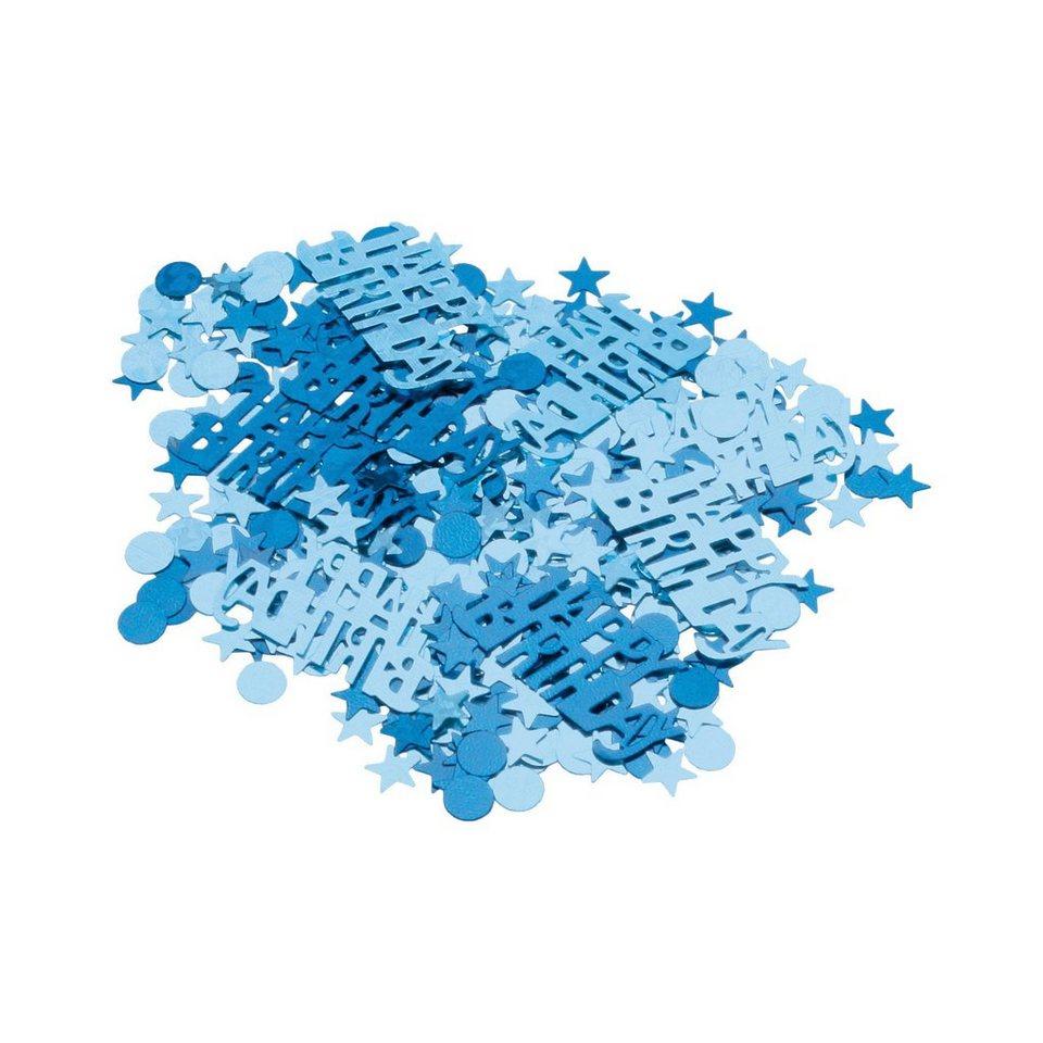 Amscan Deko-Konfetti Happy Birthday blau, 15 g