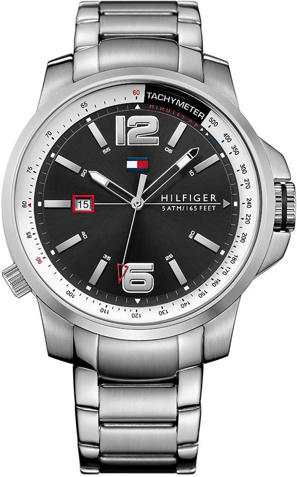Tommy Hilfiger Armbanduhr, »SOPHISTICATED SPORT, 1791222« in silberfarben
