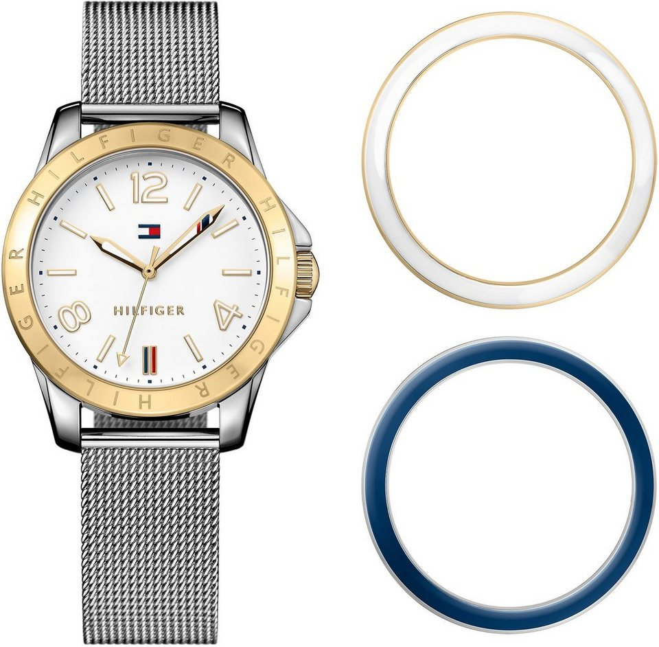 Tommy Hilfiger Armbanduhr, »CASUAL SPORT, 1781677« in silberfarben