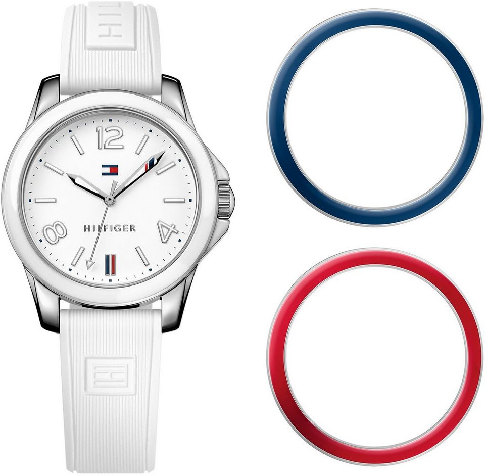 Tommy Hilfiger Armbanduhr, »CASUAL SPORT, 1781680« in weiß