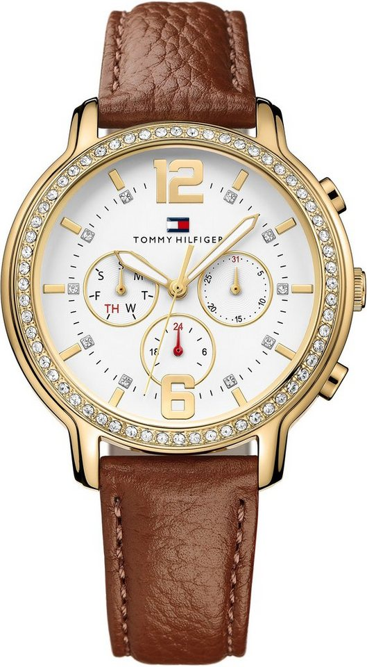 Tommy Hilfiger Multifunktionsuhr »CASUAL SPORT, 1781660« in braun