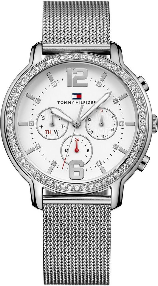 Tommy Hilfiger Multifunktionsuhr, »CASUAL SPORT, 1781659« in silberfarben