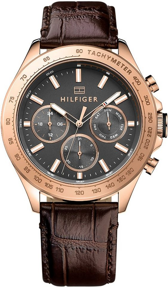 Tommy Hilfiger Multifunktionsuhr »SOPHISTICATED SPORT, 1791225« in braun