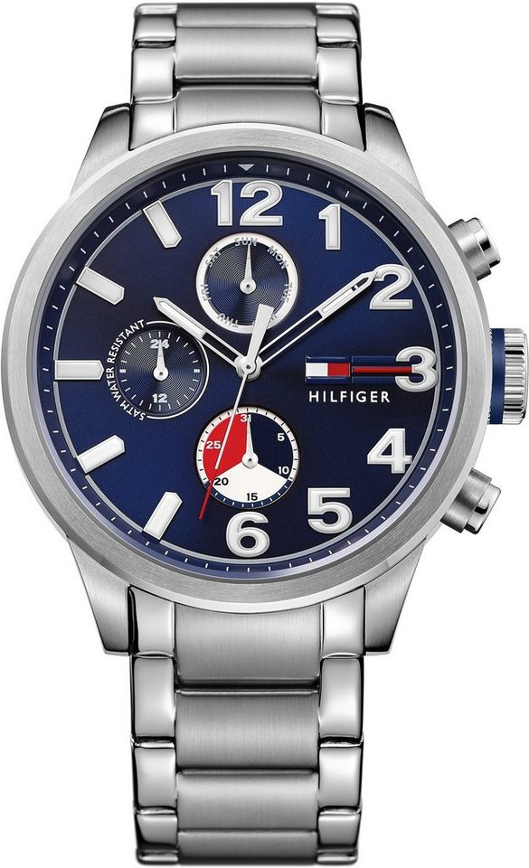 Tommy Hilfiger Multifunktionsuhr, »CASUAL SPORT, 1791242« in silberfarben