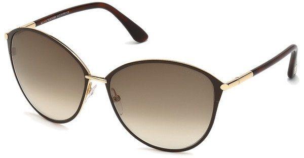 Tom Ford Damen Sonnenbrille »Penelope FT0320« in 28F - gold/braun