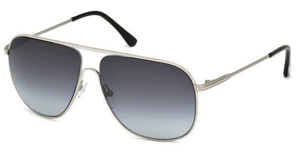 Tom Ford Herren Sonnenbrille »Dominic FT0451« in 16W - silber/blau