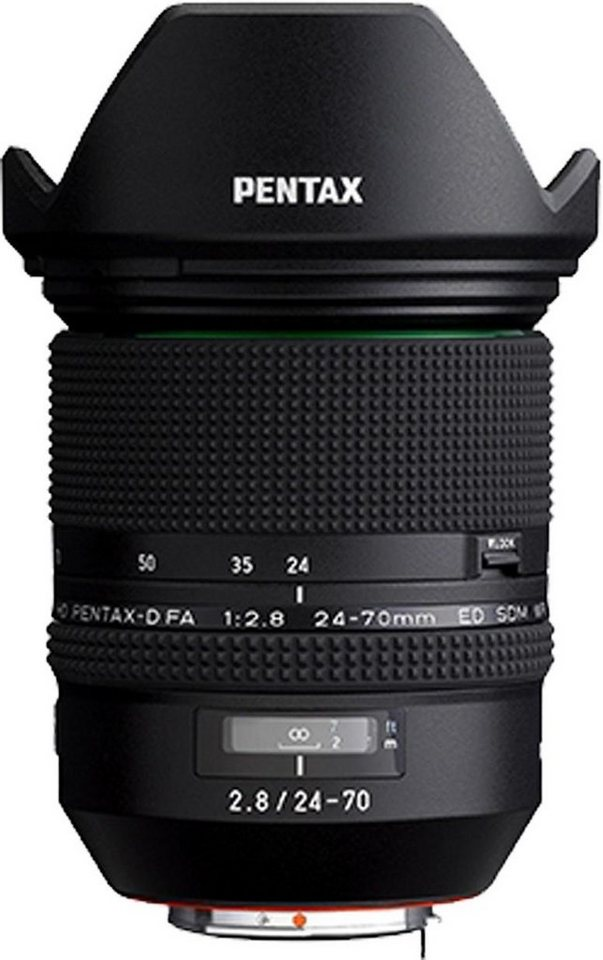 PENTAX Premium D FA 24-70mm F/2.8 ED SDM WR Weitwinkel Objektiv in schwarz