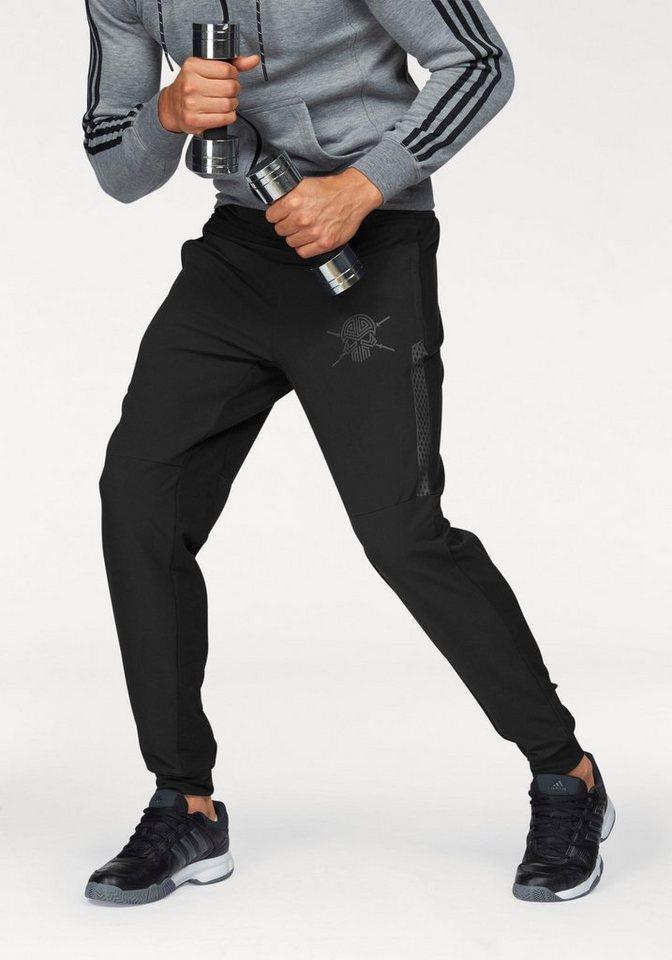 adidas Performance Sporthose »WORKOUT PANT« mit Reißverschlusstaschen in schwarz