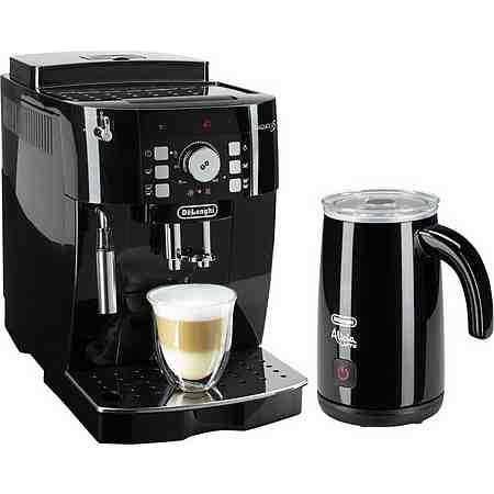 De'Longhi Kaffeevollautomat ECAM 21.118.B, inkl. Milchaufschäumer im Wert von 89,99€ UVP, schwarz