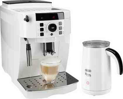 De'Longhi Kaffeevollautomat ECAM 21.118.W, 1,8l Tank, Kegelmahlwerk, inkl. Milchaufschäumer im Wert von UVP 89,99