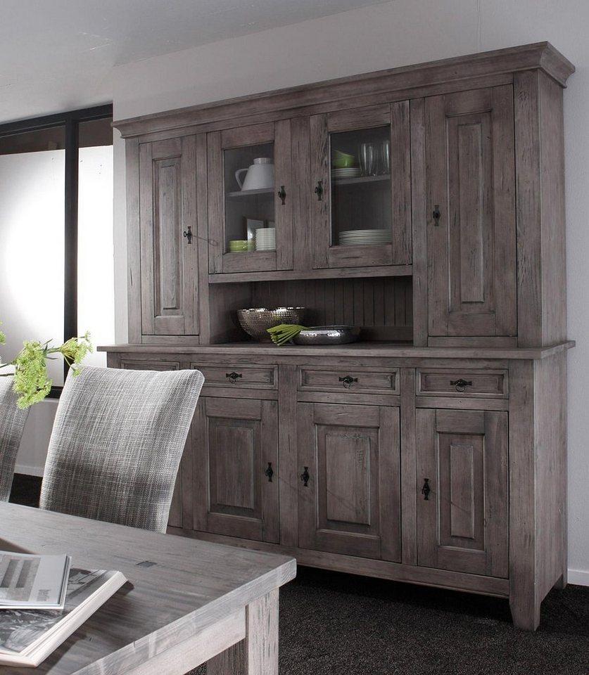 Premium collection by Home affaire Buffet »Burgund«, Breite 210 cm in steingrau