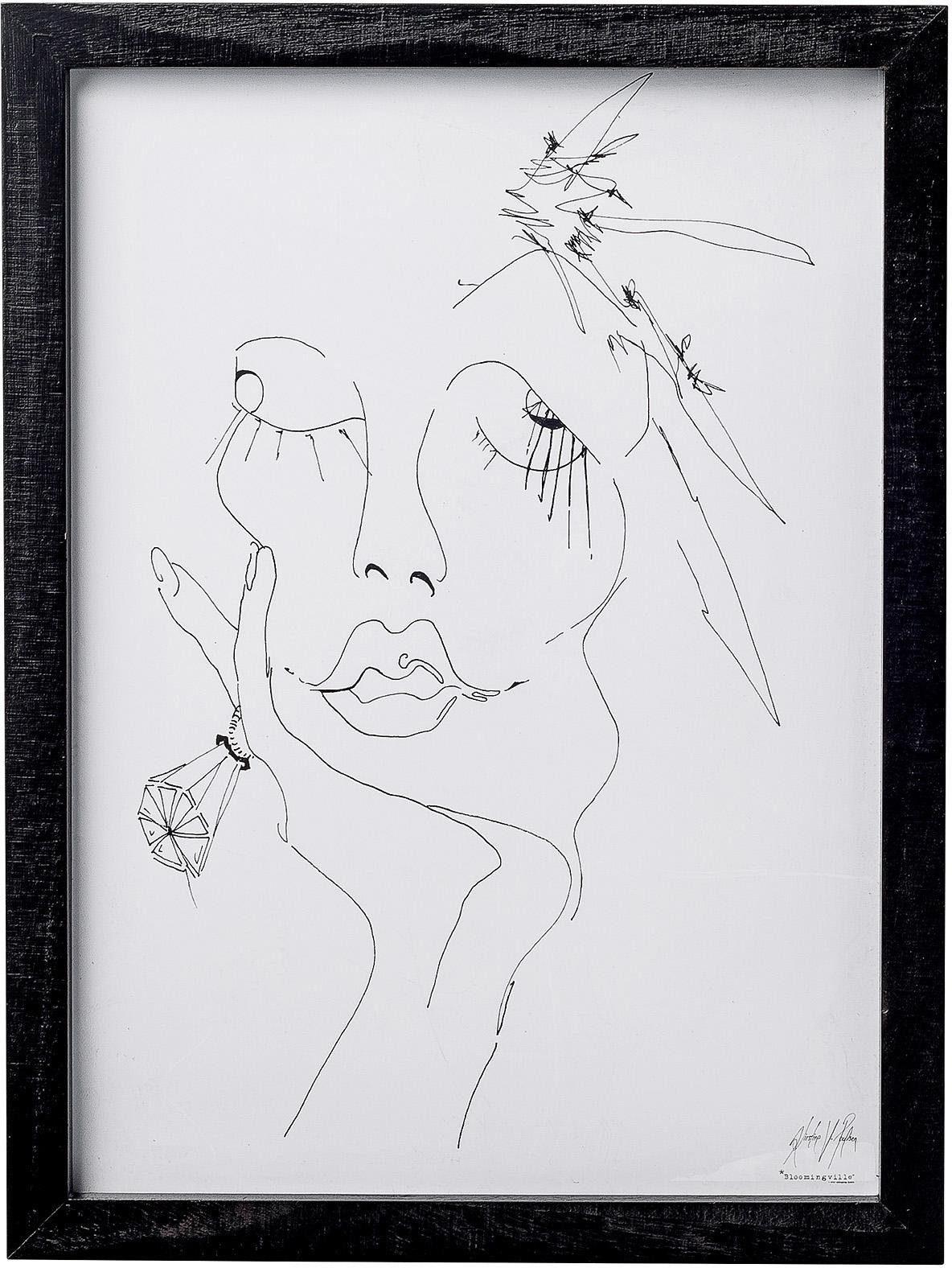 Bloomingville Bild »Porträt« mit Rahmen 30/40 cm