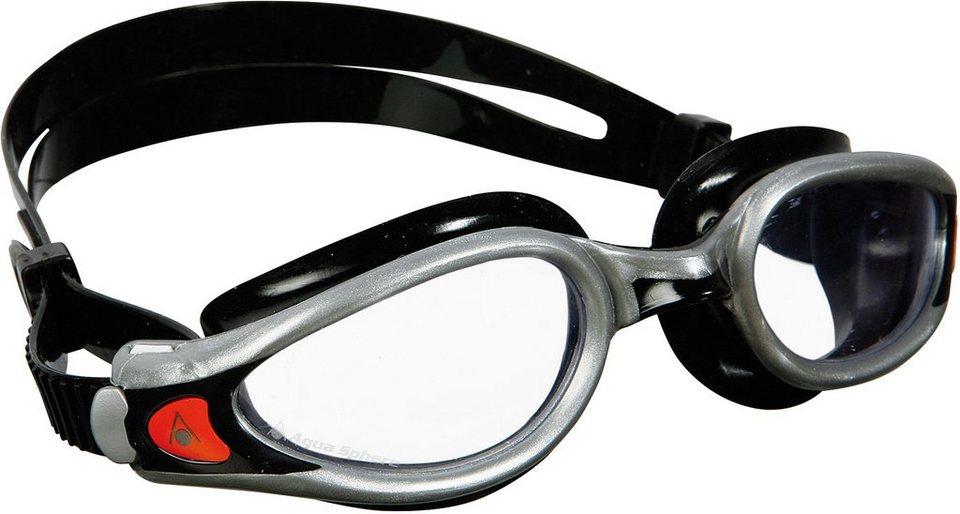 Aqua Sphere Schwimmbrille mit transparentem Glas, »Kaiman Exo« in silberfarben-schwarz