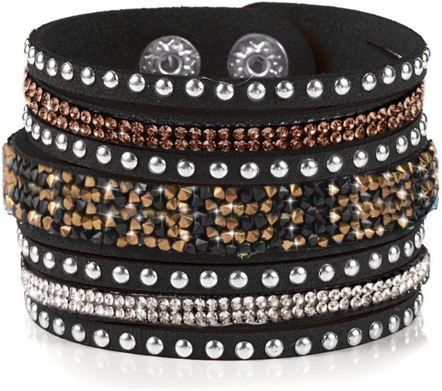 firetti Armband mit Zirkonia in schwarz