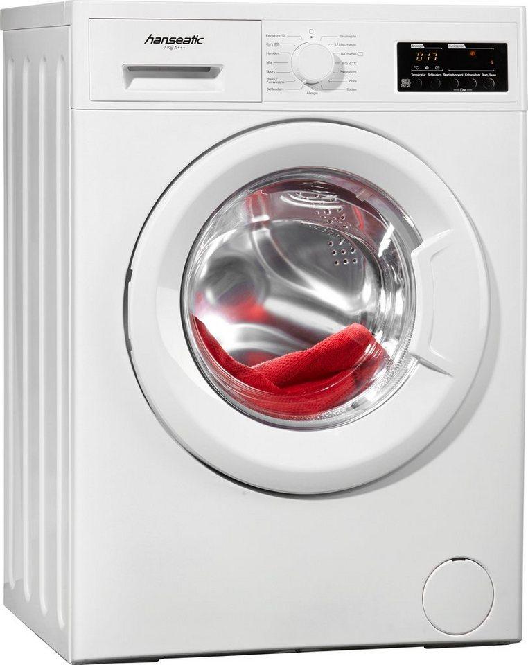 Hanseatic Waschmaschine HWM716A3, A+++, 7 kg, 1600 U/Min in weiß