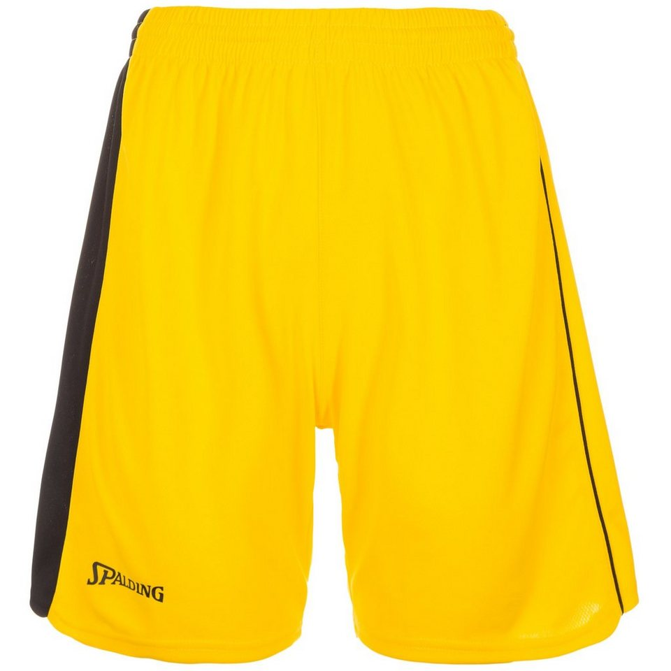 SPALDING 4her II Basketballshort Damen in gelb/schwarz