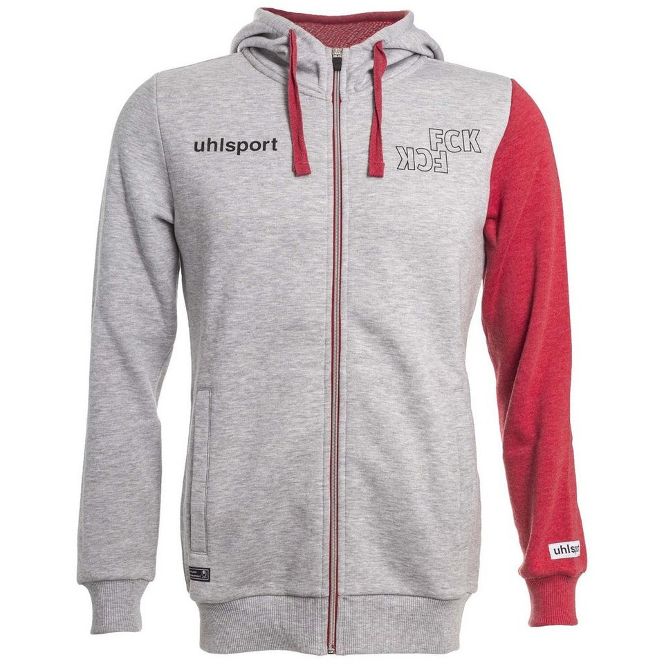 UHLSPORT FCK Hoody 15/16 Damen in hellgrau / chilirot