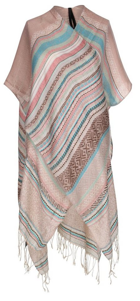 Highlight Company Cape in multi light pink