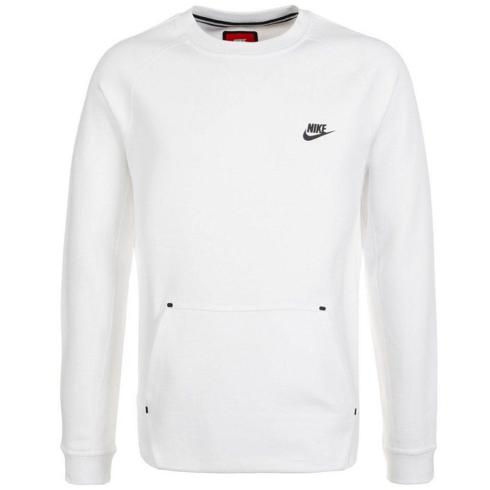 Nike Sportswear Tech Fleece Crew Sweatshirt Herren in weiß / schwarz