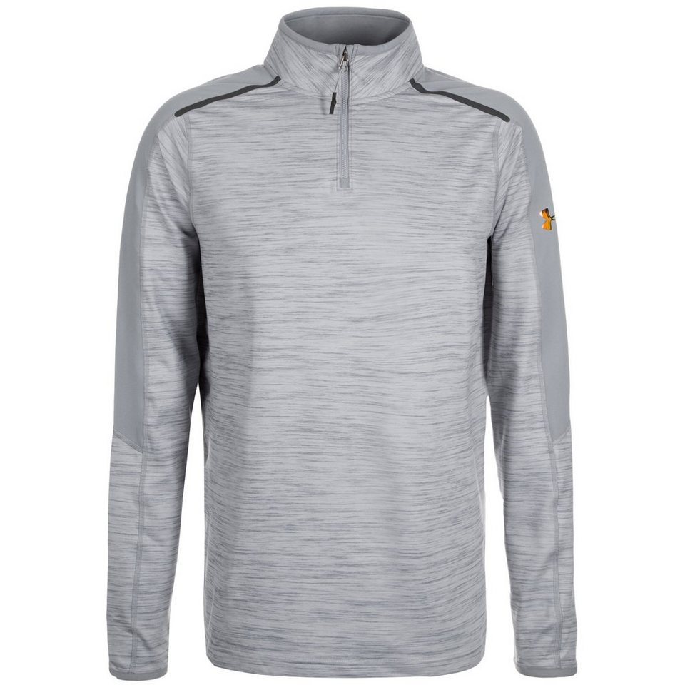 Under Armour® HeatGear Podium 1/4 Zip Trainingssweat Herren in grau