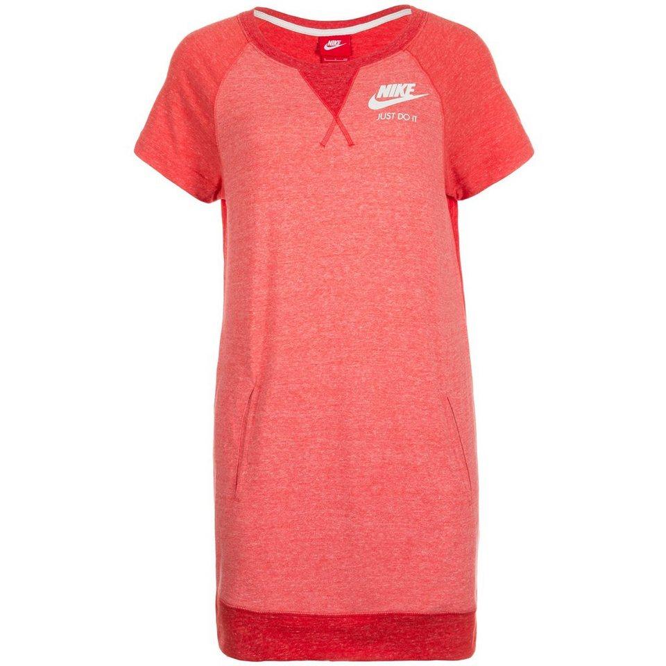 Nike Sportswear Gym Vintage Colorblock Longshirt Damen in rot