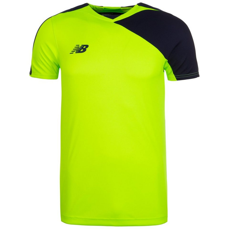 NEW BALANCE Better Tech Trainingsshirt Herren in neongrün / blau