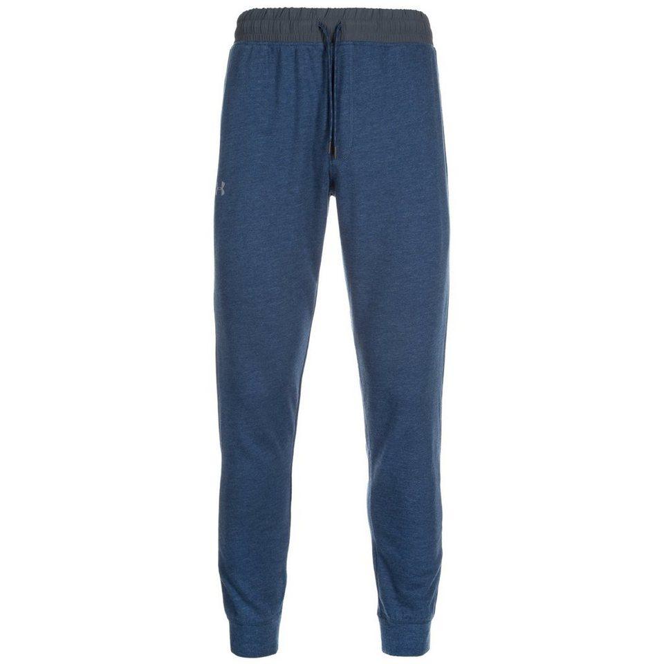 Under Armour® ColdGear Tri-Blend Fleece Trainingshose Herren in blau / grau