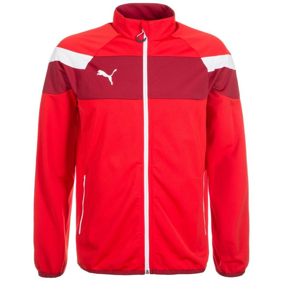 PUMA Spirit II Tricot Trainingsjacke Herren in rot / weiß