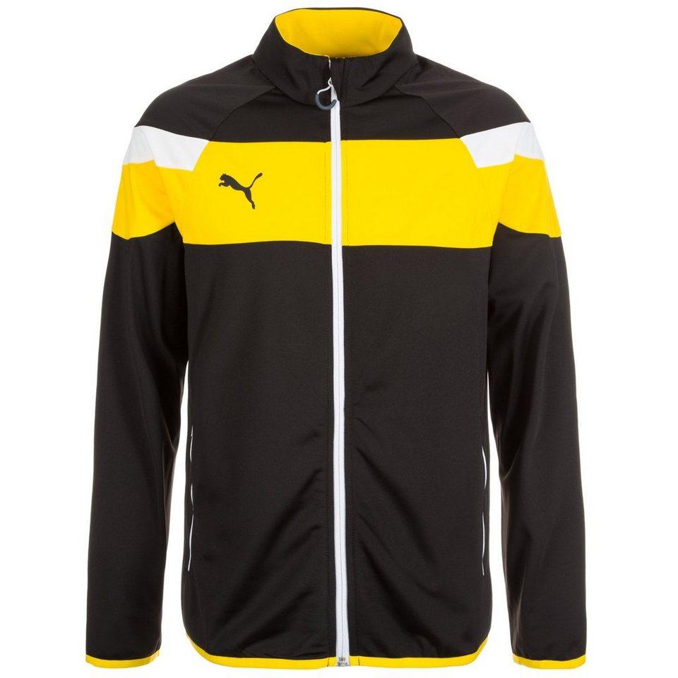 PUMA Spirit II Tricot Trainingsjacke Herren in schwarz / gelb