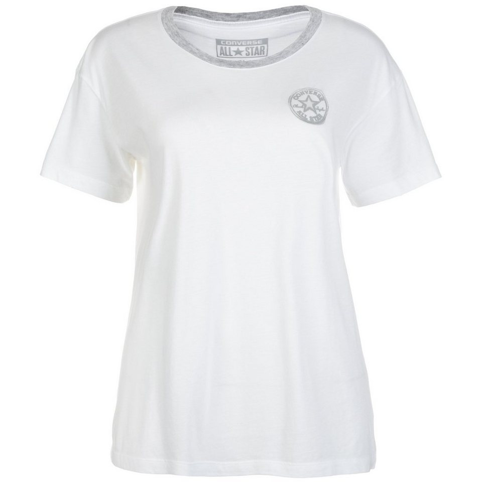 CONVERSE Core Plus CP Slouchy Crew T-Shirt Damen in weiß