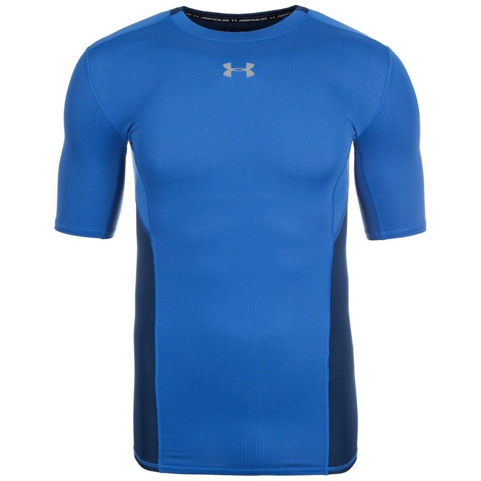 Under Armour® HeatGear CoolSwitch Compression Trainingsshirt Herren in dunkelblau / grau