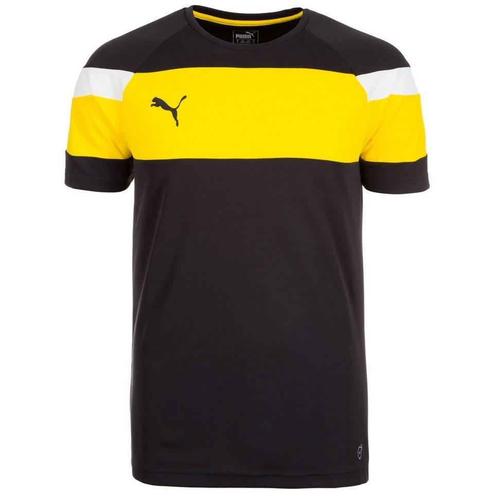 PUMA Spirit II Trainingsshirt Herren in schwarz / gelb