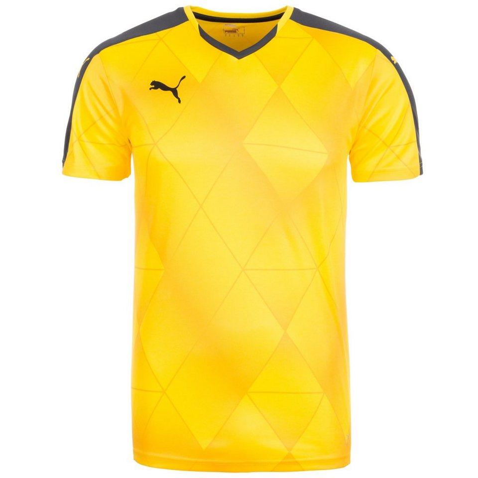 PUMA Swerve Fußballtrikot Herren in gelb / schwarz