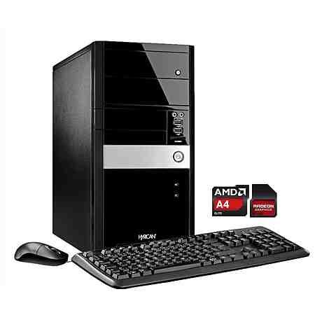 Hyrican PC AMD A4-7300, 8GB, 1TB SSHD, Windows 10 »Gigabyte Edition PC 5116«