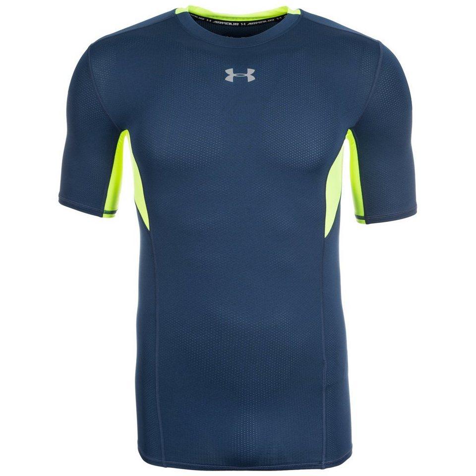 Under Armour® HeatGear CoolSwitch Compression Trainingsshirt Herren in dunkelblau / grün