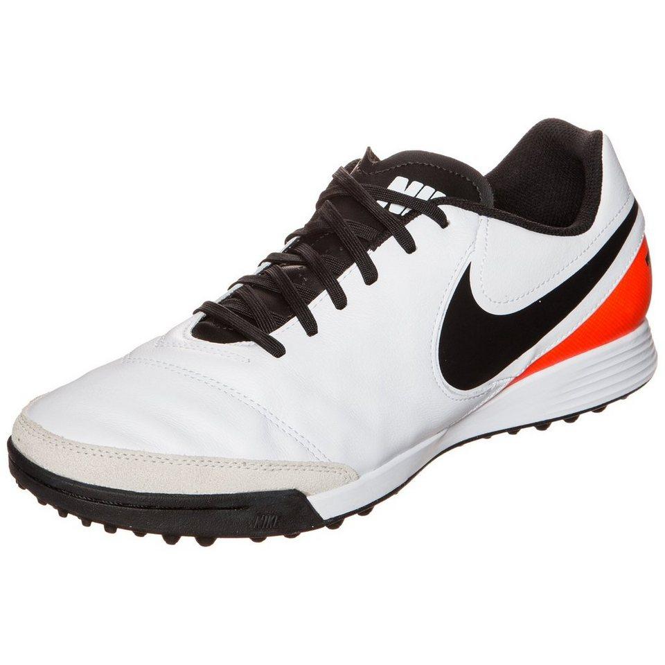 NIKE Tiempo Genio II Leather TF Fußballschuh Herren in weiß / schwarz