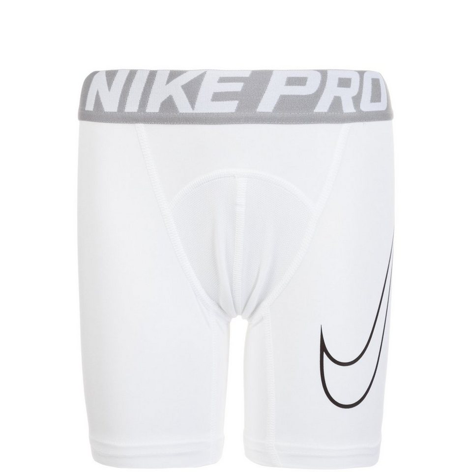 NIKE Pro Dry Compression Trainingstight Kinder in weiß / schwarz